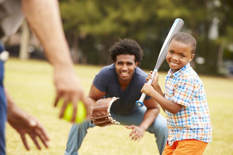 家族で野球